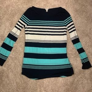J. Crew Blue and White Long Sleeve